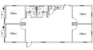 Модульные планы этажей здания