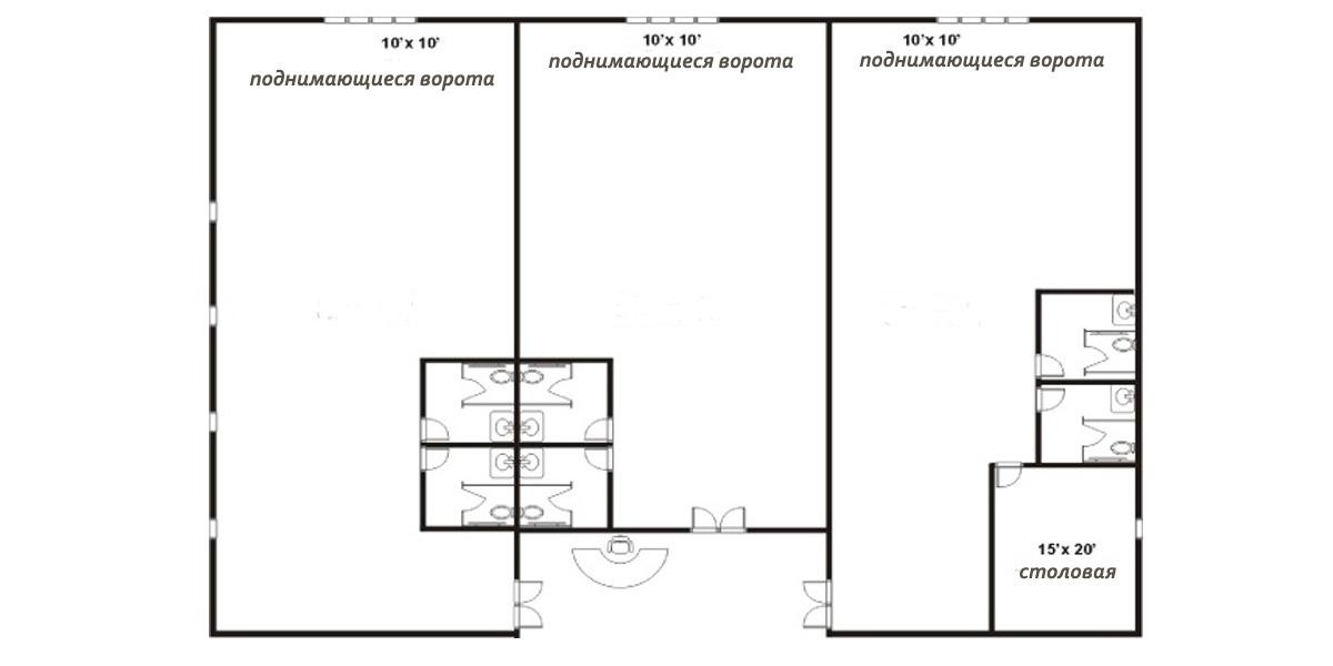 План автосервиса из металлоконструкций