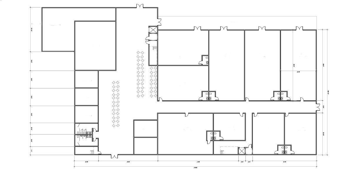 План магазина и торгового центра из металлоконструкций