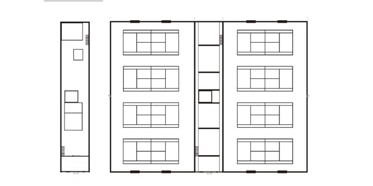 Спортивно-оздоровительные комплексы - план этажа
