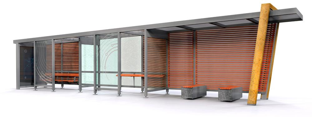 Металлические автобусные остановки
